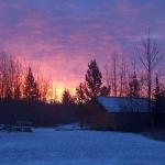 Sunrise-on-the-cabin