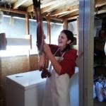 Granddaughter Working Hard